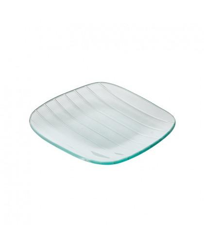 Тарелка квадратная с округлыми краями «Corone Aqua» 160 мм